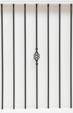 IB cage and PL 12 basic range iron baluster
