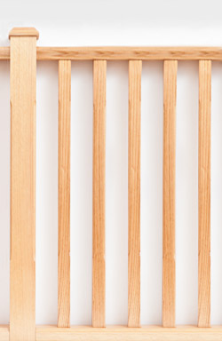 <strong>Standard Range</strong> Fluted edge timber baluster